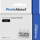 Huismerk Canon PG-40 Inktcartridge Zwart