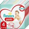 Pampers Premium Protection Pants Luierbroekjes - Maat 4 (9-15 kg) - 76 stuks - Maandbox