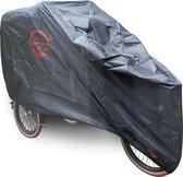 COVER UP HOC Bakfiets hoes zwart (met huif) - XL - 245x105x125cm - stofvrij / ademend / waterafstotend Red Label met slotgaten