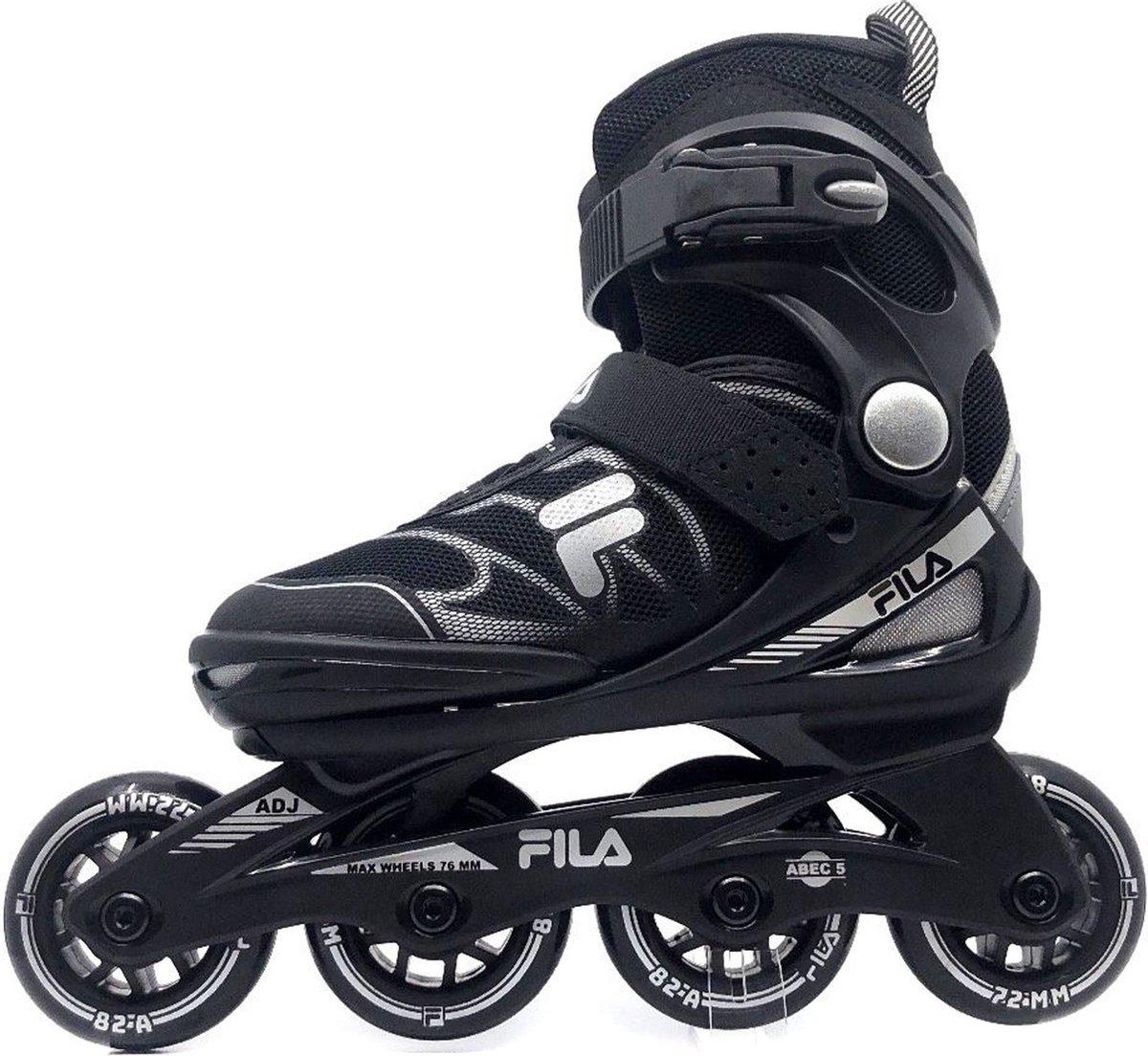 Fila J-One kinder inline skates 72 mm black, maat 32-36