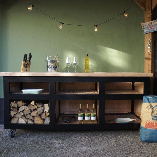 Buitenkeuken van staal en hout - The Big Chef