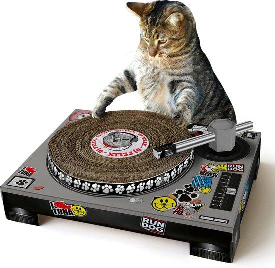 Suck UK Kat Krabben Huisdier Speelgoed Kartonnen Patenspeler & DJ-Mixer