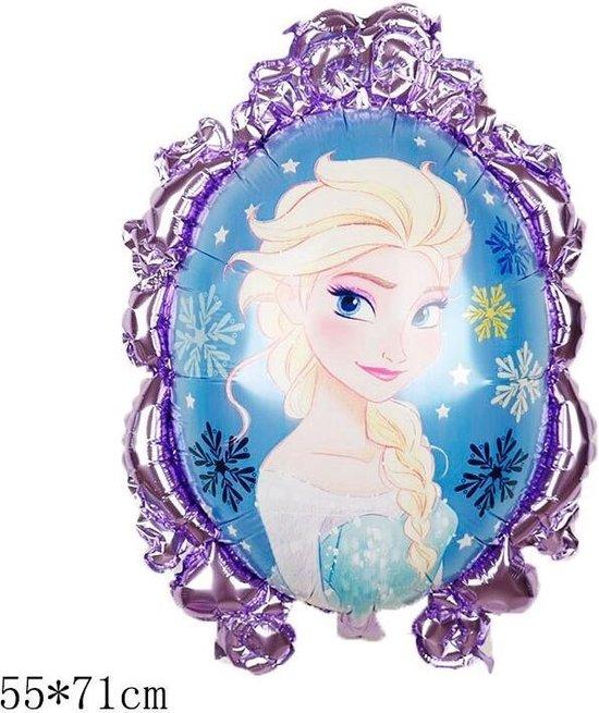 Elsa Frozen Disney,Helium Ballonnen  Met Rietje,Verjaardag Decoratie .Elsa Frozen Ballon 55x71 & Straw