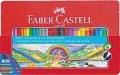 Cadeauset -  Faber-Castell 53-delig in metalen doos- Stiften - Kleurpotloden