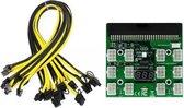 Power Module Breakout Board Met 12Pcs 6Pin to 8Pin Kabel Voor Hp 1200W 750W PSU Gpu PC Voeding Ethereum Eth Mining