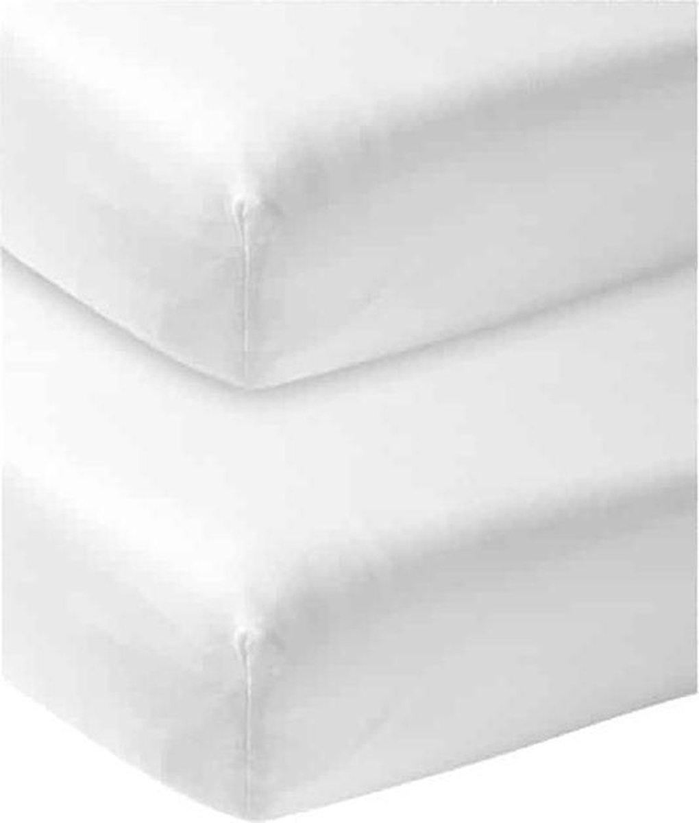 Meyco jersey hoeslaken - 2-pack - wit 40x80/90