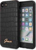 iPhone SE (2020)/8/7/6s/6 Backcase hoesje - Guess - Croco Zwart - Kunstleer