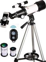 Telescoop - 70/400 mm – Sterrenkijker – Lenzentelescoop – Maanfilter - Bluetooth - Draadloze Afstandsbediening - Draagtas