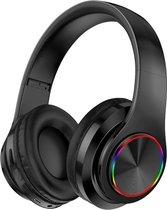 Pro-Care Excellent Quality™ Wireless Bluetooth over-ear Headset met LED verlichting - Microfoon - Active Noise Reduction - FM en SD card mogelijkheid. Kleur Zwart.