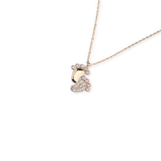 Hemels juwelier 14k geelgouden ketting met hanger. Geweldig cadeau voor moeders. Moederdag cadeau.HML713