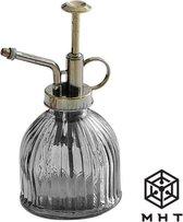 MHT - Plantenspuit - Grijs -  Glas - Vintage - Spray - 6 Kleuren - Water Verstuiver - Transparant
