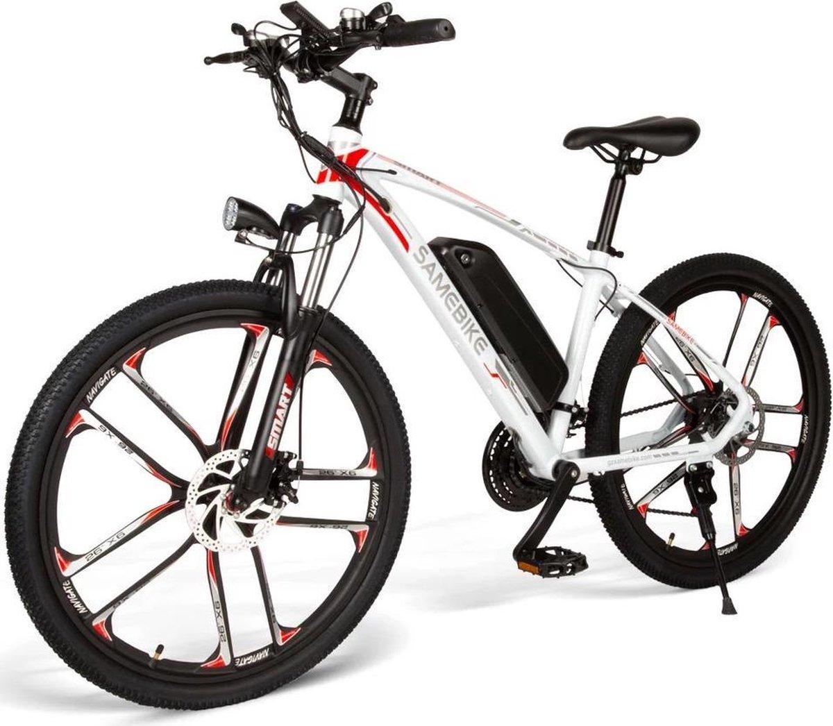 Matrix E bike -Samebike MY-SM26 Edition White - Elektrische - 48V 8AH - 30 Km/h Top Snelheid met ber