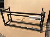Qrig Mining rig frame XL zwart met risers ondersteuning