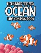Life Under The Sea Ocean Kids Coloring Book