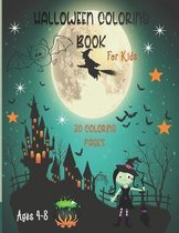 Halloween Coloring Book for Kids: Ages 4-8