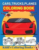 Cars, Trucks, Planes Coloring Book