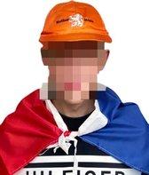 Oranje Pakket 2-delig | Nederlandse Vlag / Cape & Oranje Pet - koningsdag kleding - oranje kleding koningsdag