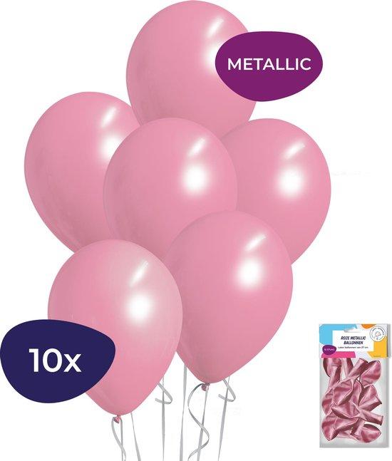 Roze Ballonnen - Metallic Ballonnen - Helium Ballonnen - Sweet 16 Versiering - Verjaardag Versiering - 10 stuks