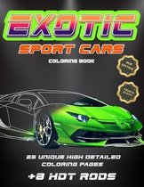 Exotic Sport Cars Coloring Book, 23 unique high detailed coloring pages
