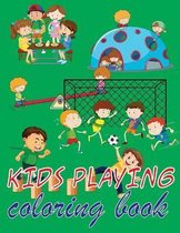 kids playing coloring book