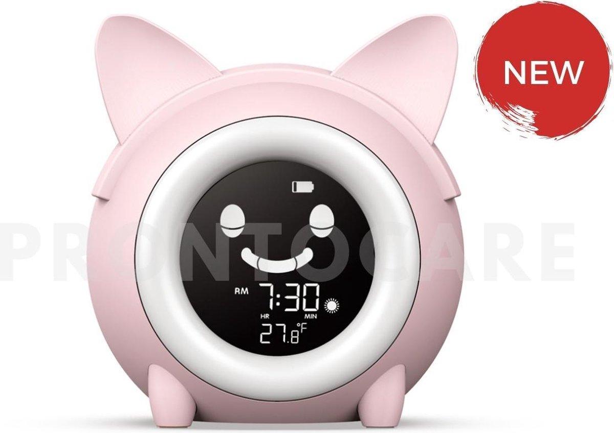 Slaaptrainer - Wake-up light - Digitale wekker met slaaptimers - Nachtlamp met slaapdeuntjes - Kat -