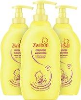 Zwitsal Baby Zeepvrije Wascrème - 3 x 400 ml - Voordeelverpakking