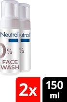 Neutral 0% Facewash Parfumvrij - 2 x 150 ml - Voordeelverpakking