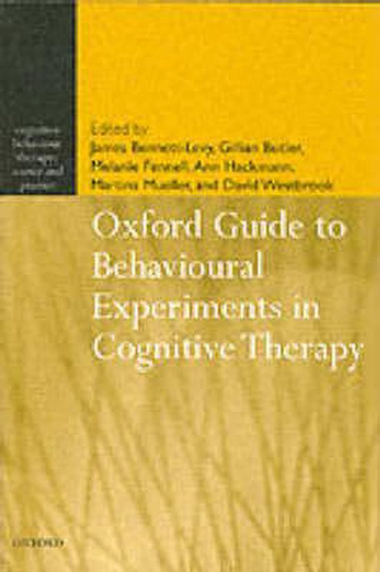 Boek cover Oxford Guide to Behavioural Experiments in Cognitive Therapy van Khadj Rouf (Paperback)