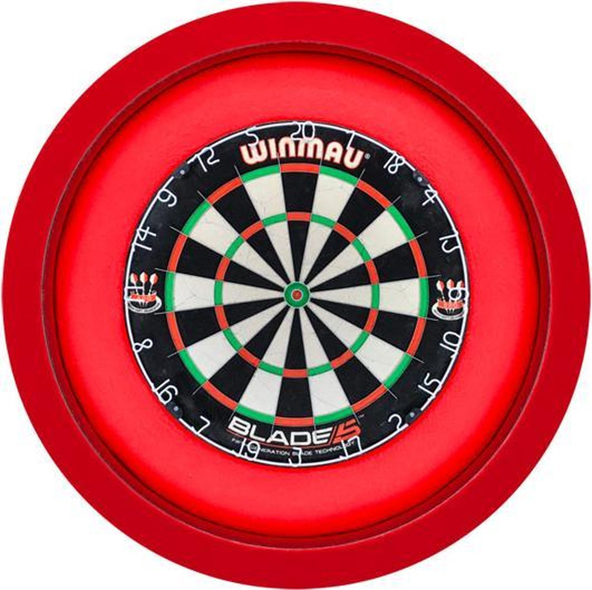 S4D Dartbord Verlichting XXL One Color Rood