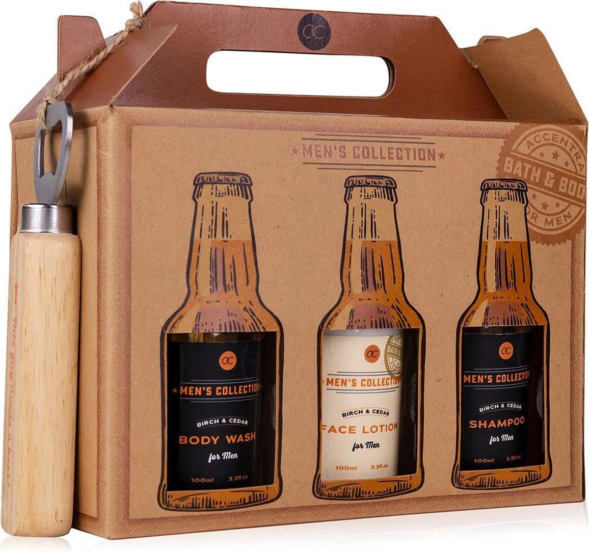 Cadeau voor man - Grappig en stoer verjaardag cadeau mannen in kratgeschenkverpakking - Men's Collec