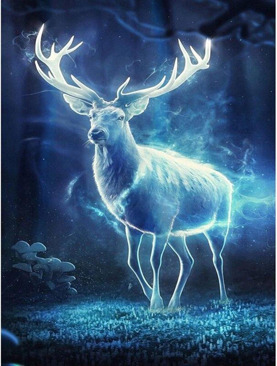 Premium Paintings - Patronus van Harry Potter - Diamond Painting Volwassenen - Pakket Volledig / Pakket Full - 30x40 - Moederdag cadeautje