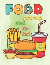 Food Coloring Book For Kids 4-8 Years