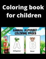 Coloring Book For Children: Animal Alphabet Coloring Pages