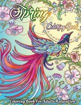 Spring Coloring Book For Adults