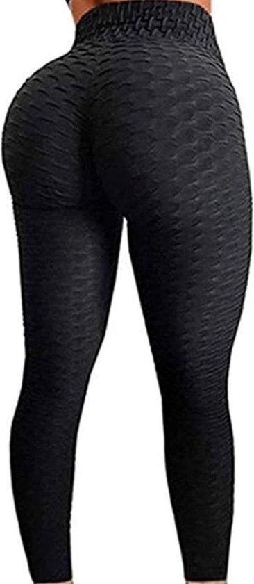 Sportlegging Dames High Waist maat M - Anti Cellulite / Cellulitis - Scrunch Butt - Sportbroek - Sport Legging Voor Fitness / Yoga / Vrije Tijd - Comfortabel – size M – Zwart / tiktok / sportschool