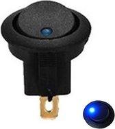 Tuimelschakelaar 12V Rond - Blauw LED indicator - Auto/Boot/Camper