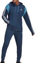 adidas Trainingspak - Maat S  - Mannen - donkerblauw/lichtblauw/wit