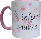 Liefste mama theemok   2021 Collectie   moederdag cadeautje set    Met sticker en vlaggenprikkers