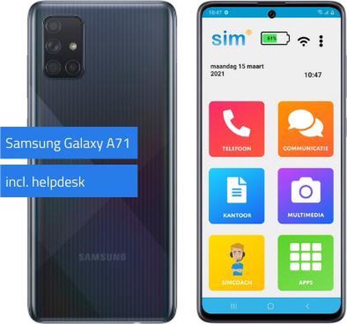 SimPhone 4 (SA71) senioren smartphone 128GB incl. ondersteuning bij gebruik.