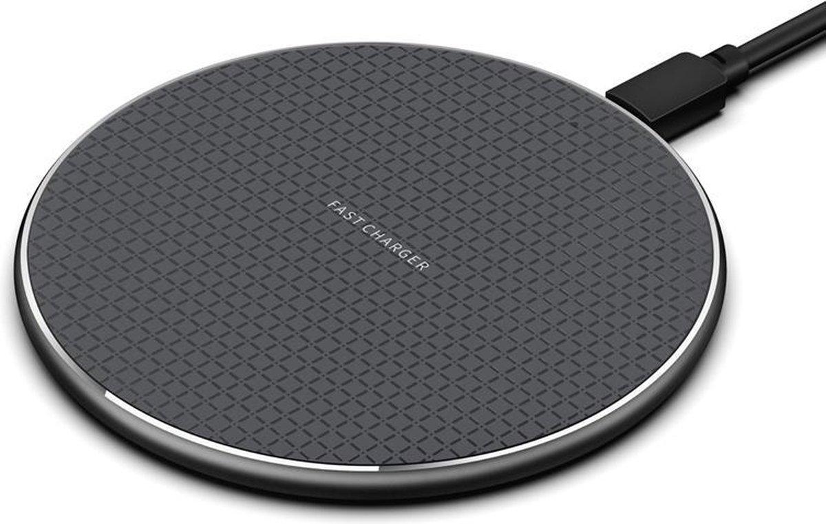 YONO Wireless Charger - Draadloze Oplader iPhone en Samsung - Qi Lader - 10W - Zwart