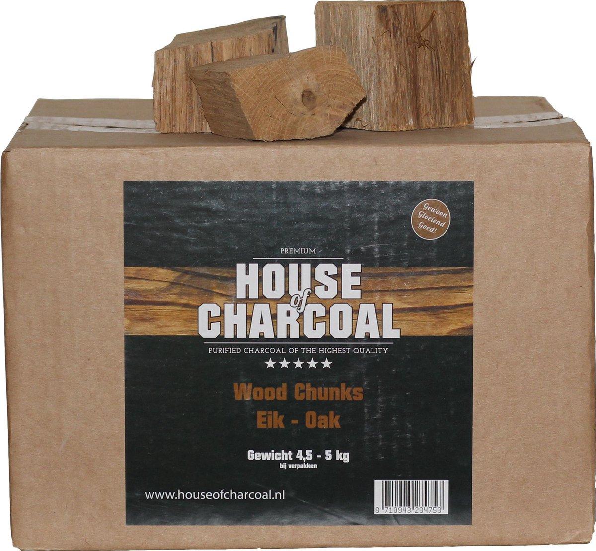 Rookhout chunks eiken - Smoking wood chunks Oak - 5 kg