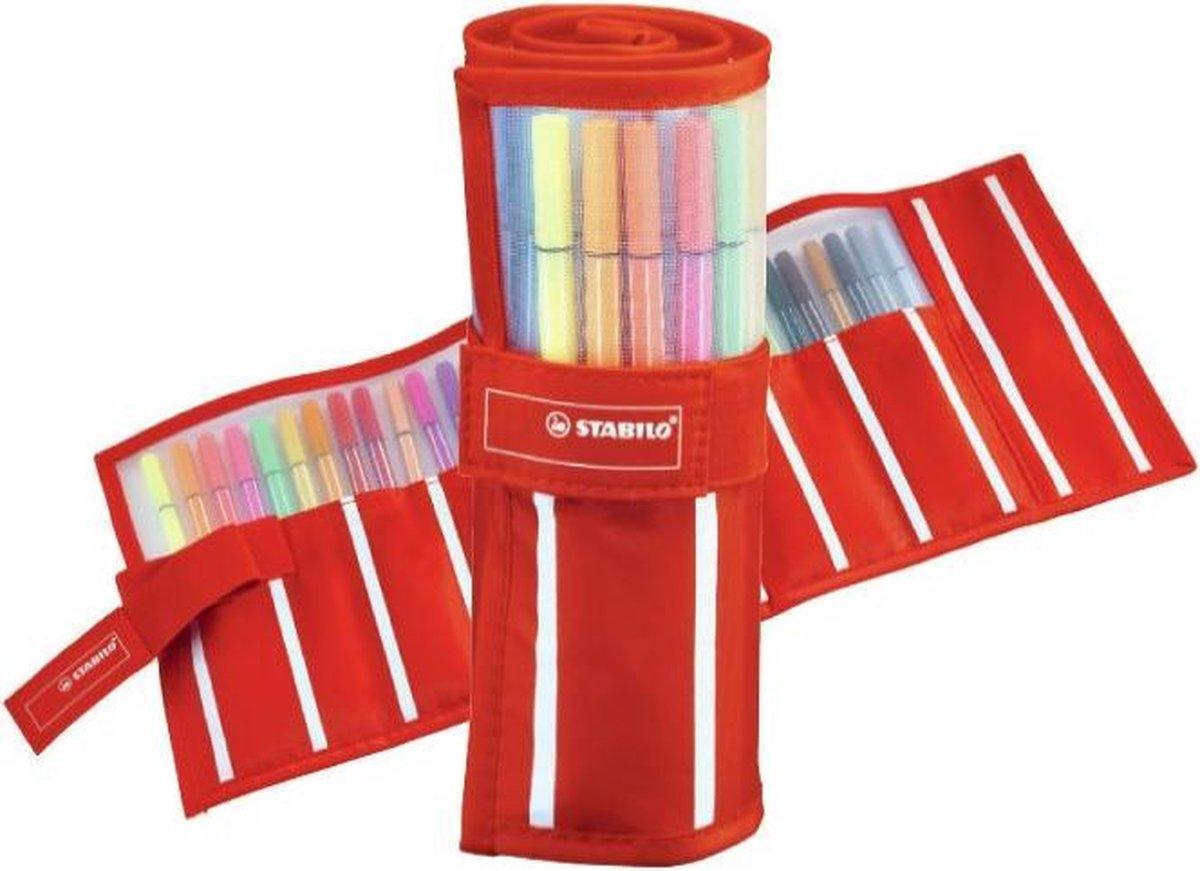 STABILO Pen 68 - Premium Viltstift - Rollerset - 30 Stuks Etui - Met 25 Standaard + 5 Neon Kleuren