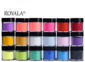 Royala   18-Delige Acryl Poeder set   Totaal 108 gram aan poeders   Acryl nagels   Starter set voor Nail Art  18 kleuren   Nail Art