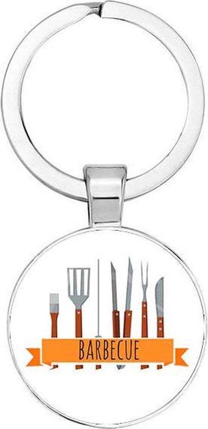 Akyol® Barbecue Sleutelhanger | BBQ | Barbecue liefhebber | Leuk kado voor iemand die van barbecueën houd | 2,5 x 2,5 CM