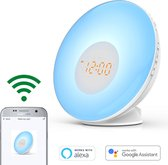 Greenure Wake Up Light met App Pro - White Noise Machine - Wekker - Slaaptrainer - Google Hom