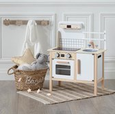 Made4Home® - Speelgoed houten keuken | Imitatie spel | Speelgoedkeuken| Kinderkeuken | Uitgerust met een oven, een gootsteen en kookplaten | 1 Stuk