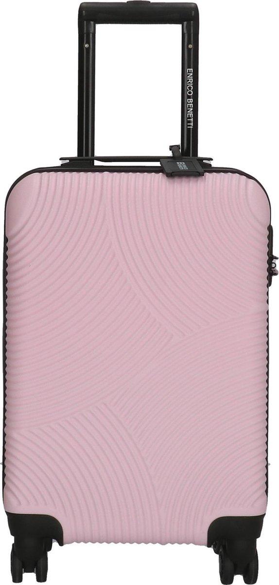 Enrico Benetti Louisville 39040 Handbagage koffer hardcase ABS - Roze