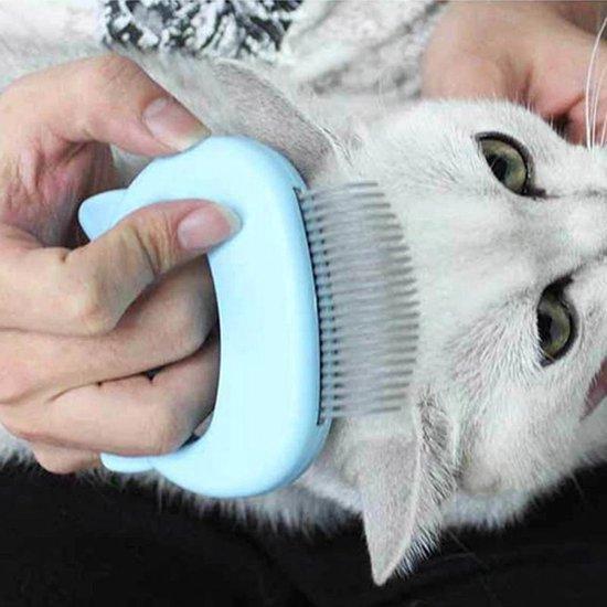 Katten kam - Katten borstel - Haarverwijdering voor huisdieren - Dieren borstel - katten massage borstel - Kattenvachtborstel - Kam voor katten - Vlooienkam katten - Luizenkam - Vlooien verwijderaar - Netenkam - huisdierhaar verwijderaar