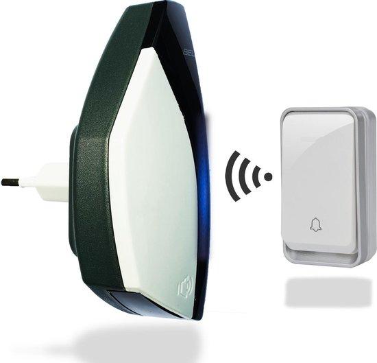Bell4U - Draadloze deurbel - Geen batterijen nodig - 51 melodieën - Kinetische energie opwekking - 50 meter bereik - Duurzaam - Bell4U