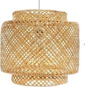 Hanglamp gevlochten bamboe ø 40 cm | Handgeweven bamboe pendant lamp hoogte kap 38 cm